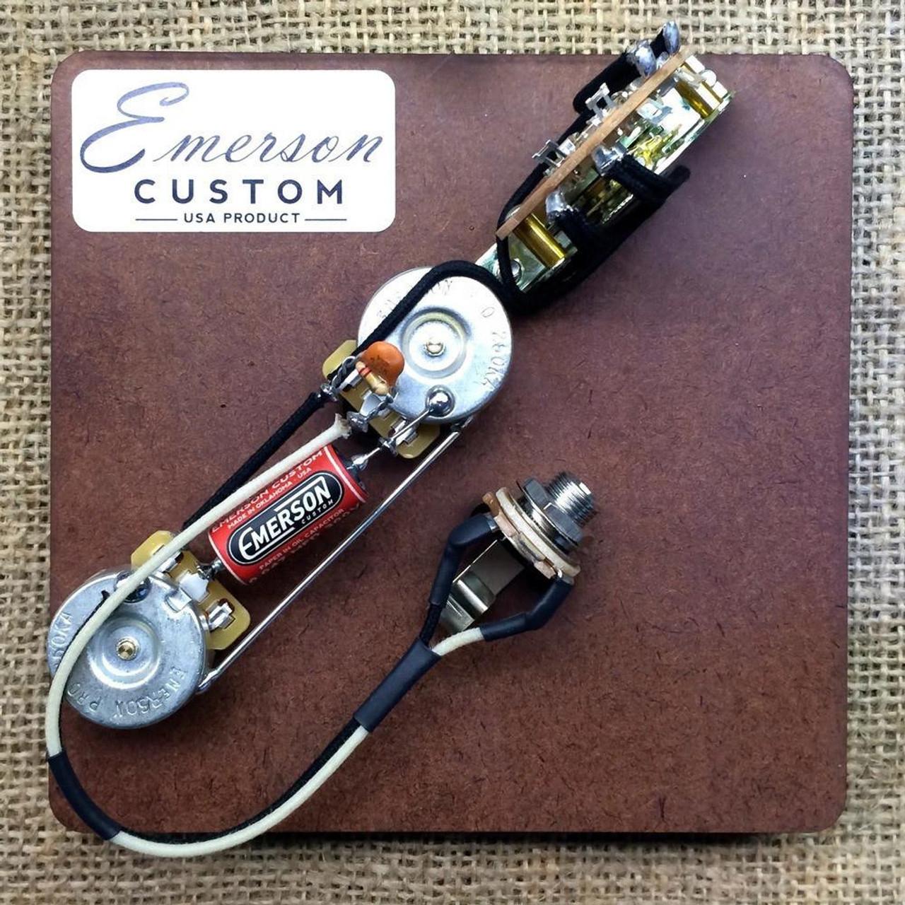 emerson t3 3 way 500k telecaster prewired kit the guitar store rh seattleguitarstore com Fender Telecaster 3-Way Wiring Diagram Squier Telecaster Wiring-Diagram