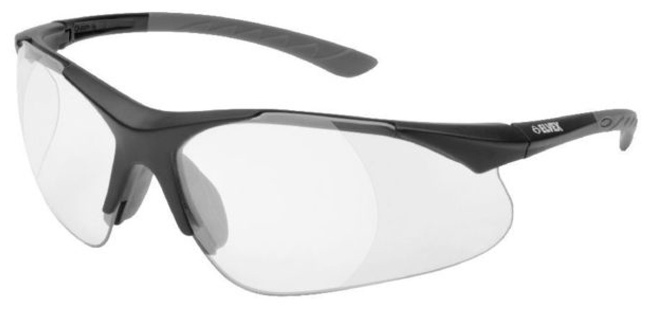 Elvex Rx 500 Safety Glasses Black Frame Clear Lens Full