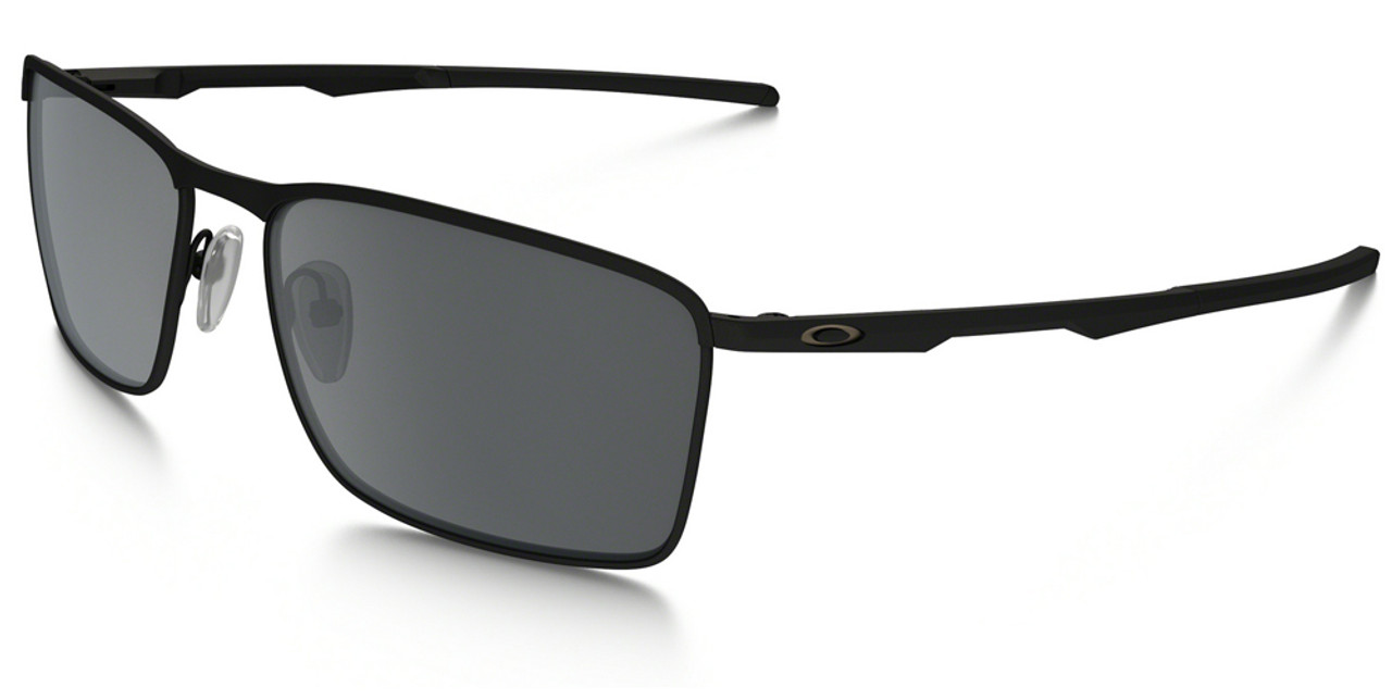 Oakley Conductor 6 Sunglasses with Matte Black Frame and Black Iridium Lens