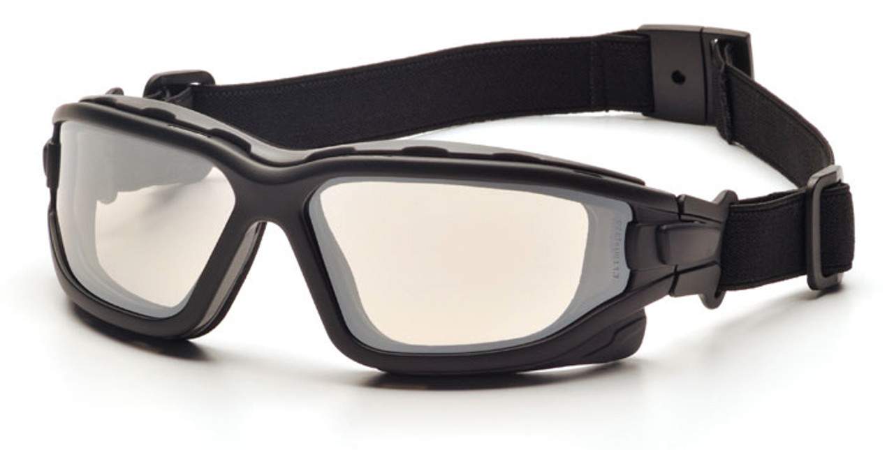 Pyramex I-Force Safety Goggle/Glasses with Black Frame and Indoor ...
