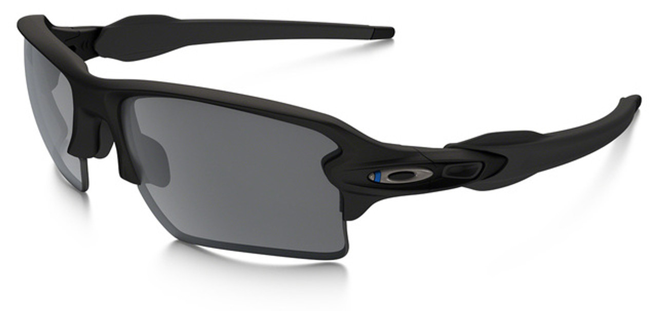 blue and white oakley flak jackets