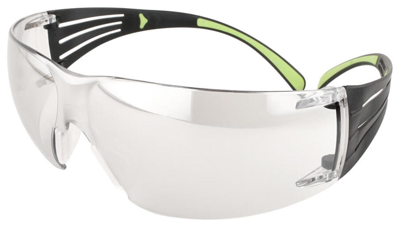 4bb32b2fc7d 3M SecureFit Safety Glasses Black Lime Frame Clear Anti-Fog Lens