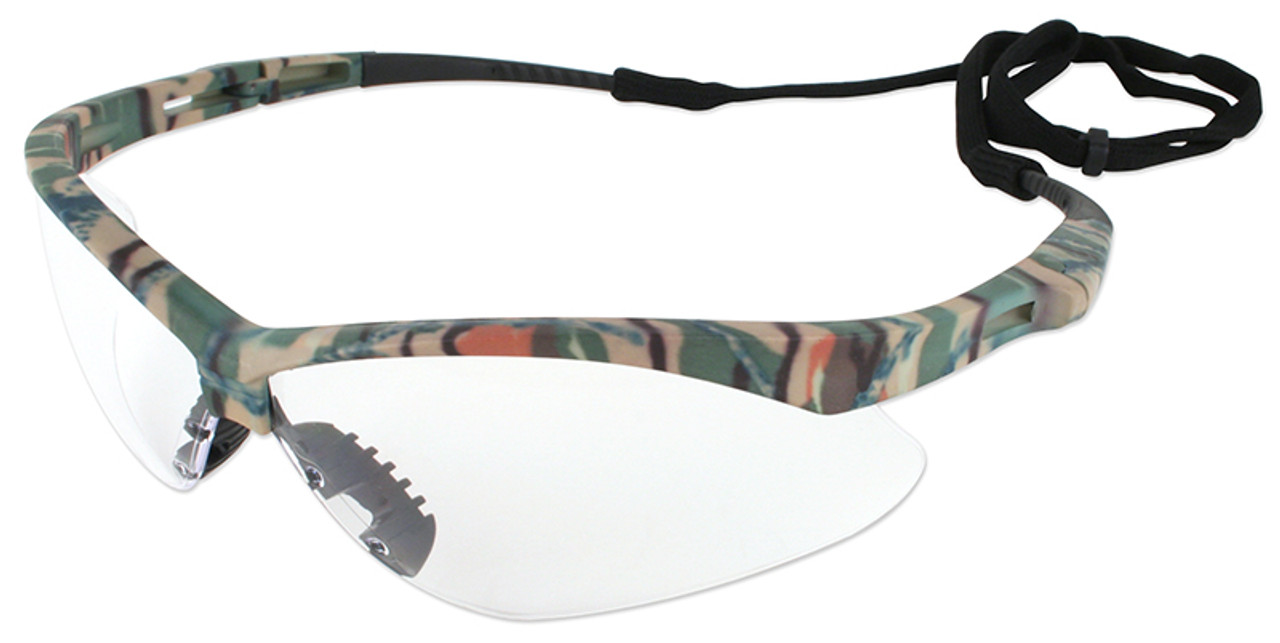 Jackson Nemesis Safety Glasses Camo Frame Clear Anti-Fog Lens