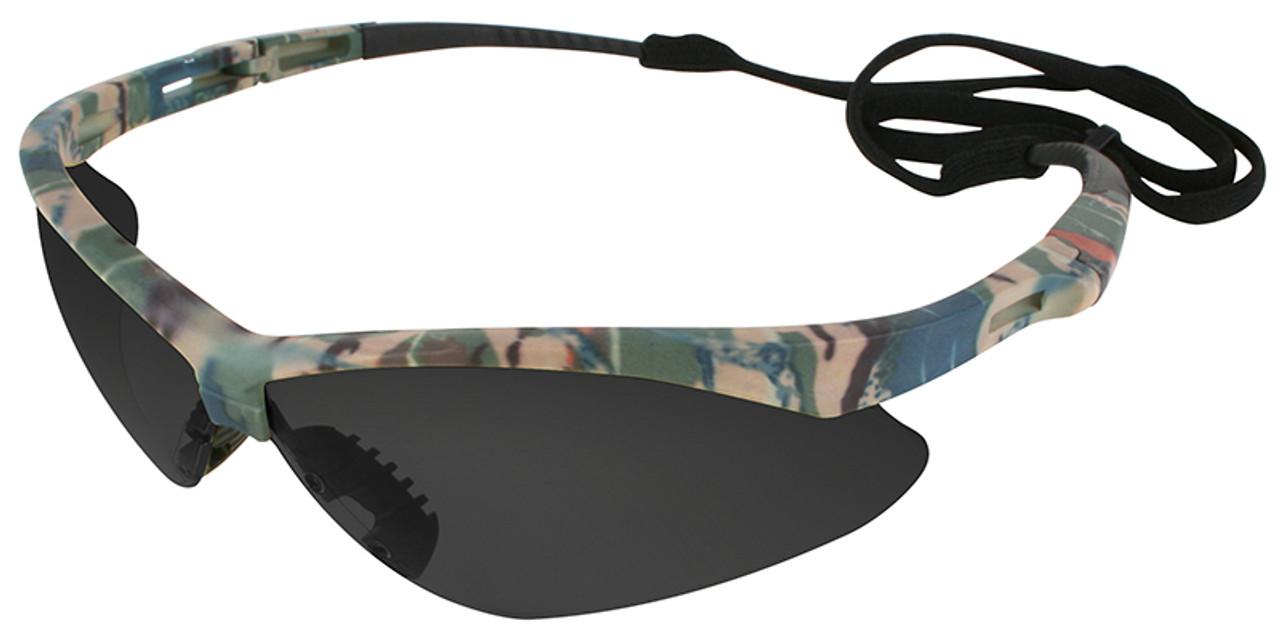 Jackson Nemesis Safety Glasses Camo Frame Anti-Fog Smoke Lens