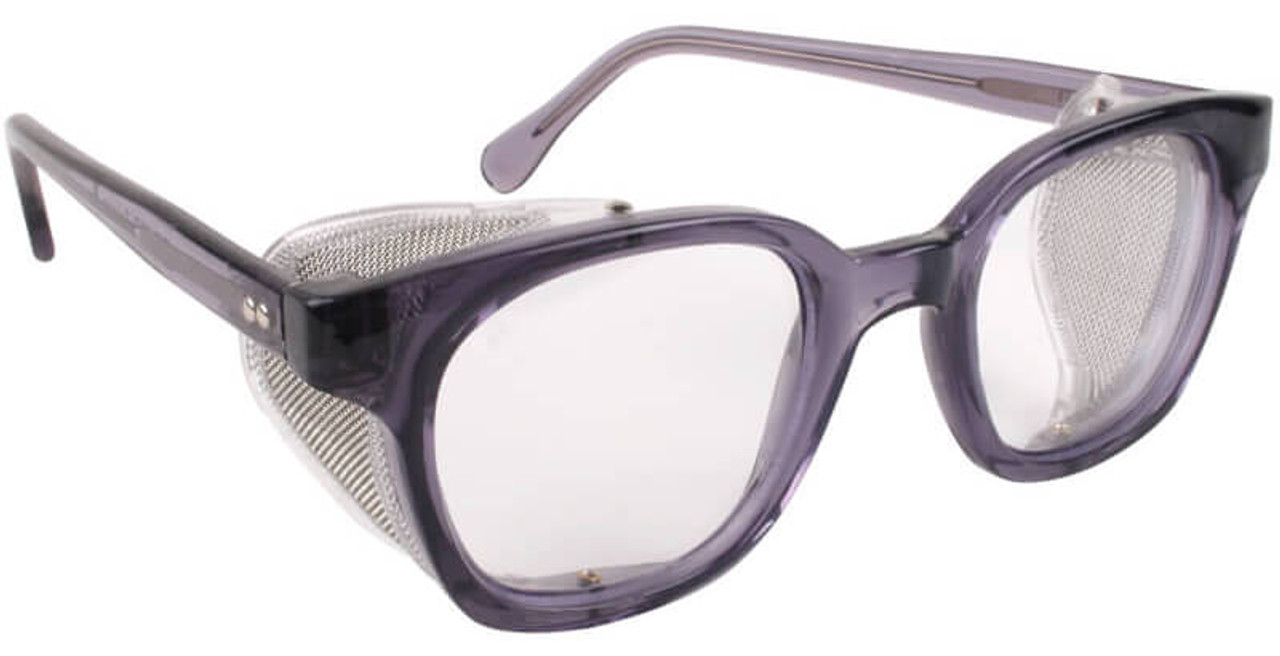 safety glasses side shields bouton traditional safety glasses smoke frame wire 10123