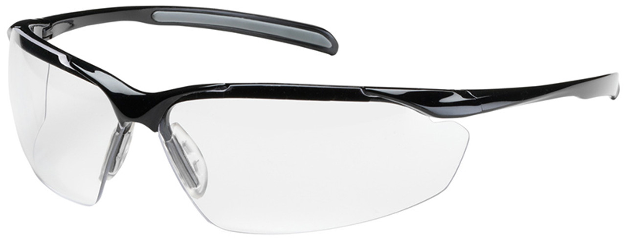 Bouton commander safety glasses black frame clear anti fog for Anti bouton maison