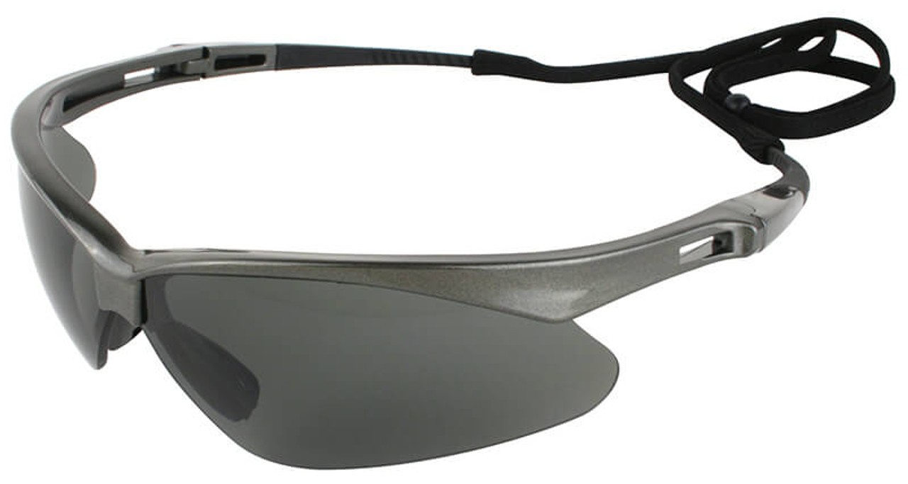 Jackson Nemesis Polarized Safety Glasses Gunmetal Frame Smoke Lens