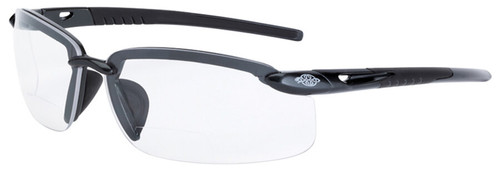 Crossfire ES5 Bifocal Safety Glasses with Pearl Gray Frame and Clear Lens