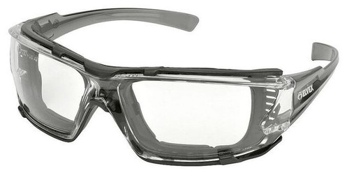Elvex Go-Specs IV Safety Glasses with Gray Temples, Foam Gasket and Clear Anti-Fog Lens