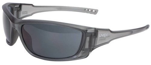 Uvex A1500 Safety Glasses with Matte Gray Frame and Gray Anti-Fog Lens