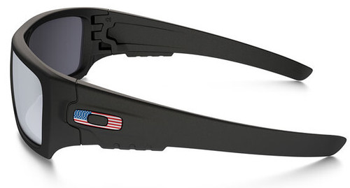 a0e164eb4f ... top quality oakley si ballistic det cord sunglasses with matte black  usa flag frame and grey