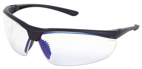 Crews VL2 Safety Glasses with Navy Blue Frame and MaxBlue lens