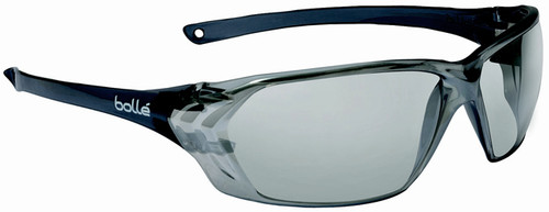 Bolle Prism Safety Glasses with Shiny Black Temples and Silver Mirror Anti-Scratch Lens