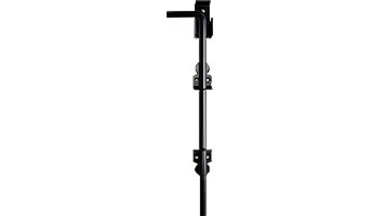 """Cane Bolt, Black - 18"""", Stainless Steel, Powder coated black, Non Lockable"""