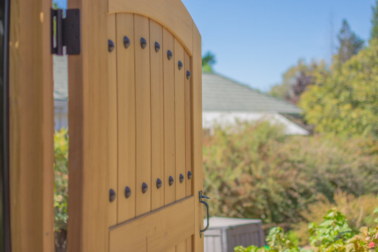 Easy-Install Wood Cedar Gate, Hacienda, Pre-Hung