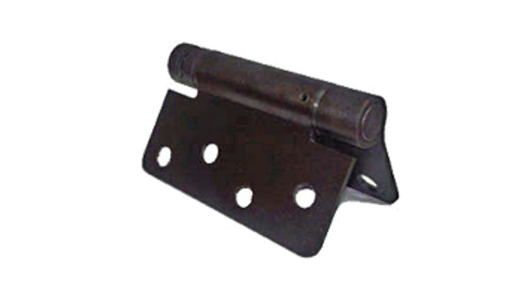 "Self Closing Oil-Rubbed-Bronze, Gate Butt Hinge, 4x4, (1/4""R corners), Steel Base Metal"