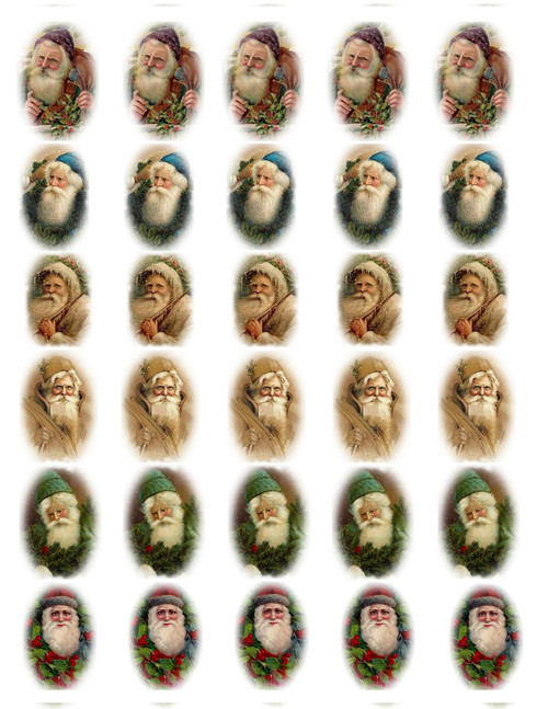 Victorian Santa Decal Sheet