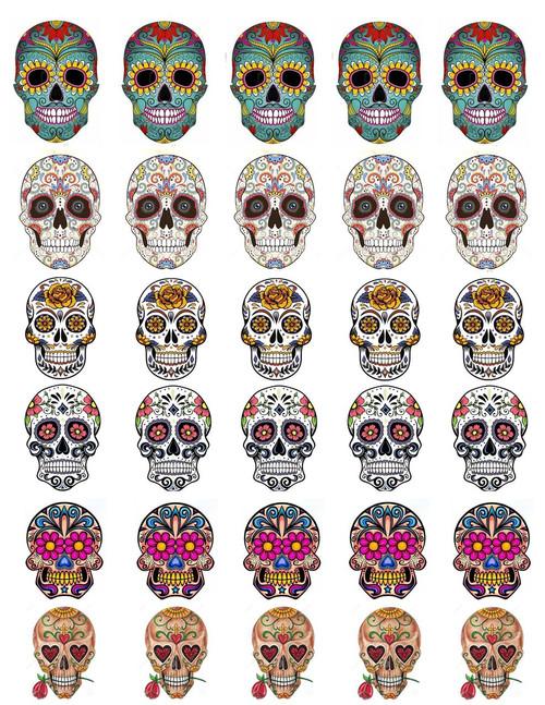 Sugar Skull Decal Sheeet