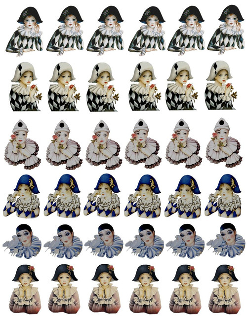 Pierrot Decal Sheet