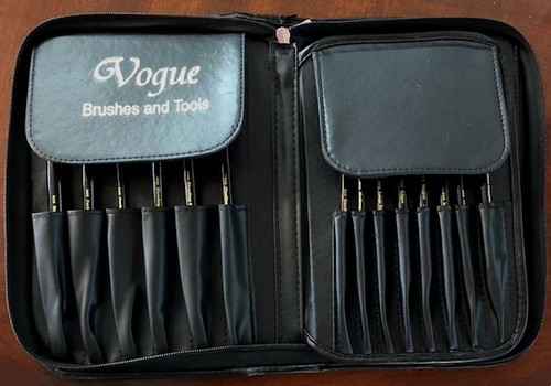 Vogue Brush Holder with brushes and tools