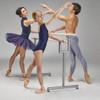 Custom Barres ~ Virtuoso Portable Ballet Barre with former ABT Principal Dancers, Irina Dvorovenko, Maxim Beloserkovsky and their daughter Emma Beloserkovsky