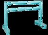 Custom Barres 2nd Arabesque - Adjustable Portable Ballet Bar - All Steel -  Tiffany Blue