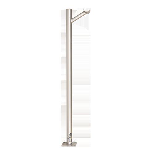 FRAPPÉ SINGLE - Custom Barres Single Floor Mounted Ballet Barre Bracket - Silver