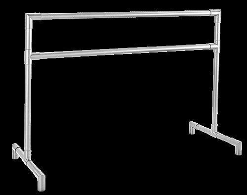 3rd ARABESQUE - Anodized Aluminum Freestanding Ballet Barre by Custom Barres - Portable Ballet Barres