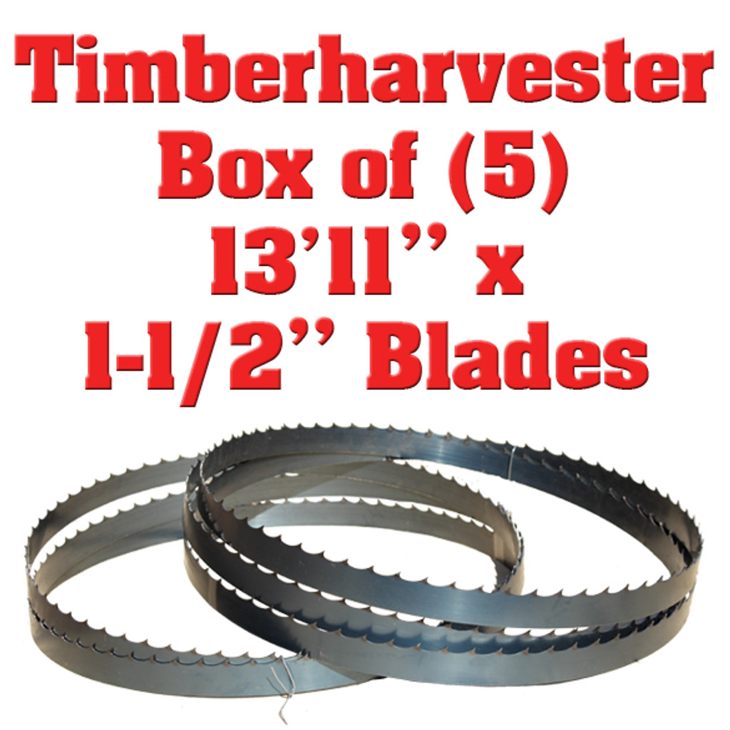Timberharvester band saw blades