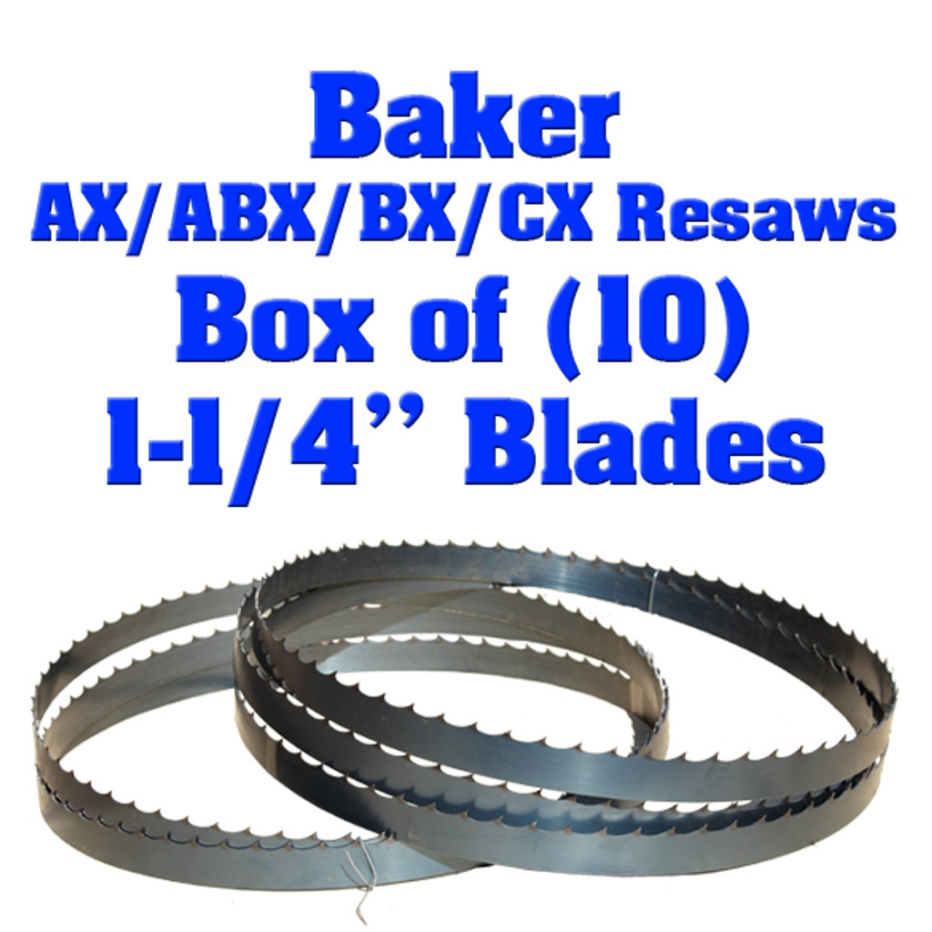Bandsaw blades for Baker AX Resaw