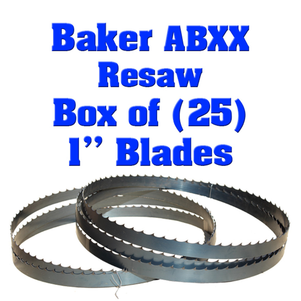 Bandsaw blades for Baker ABXX Resaw