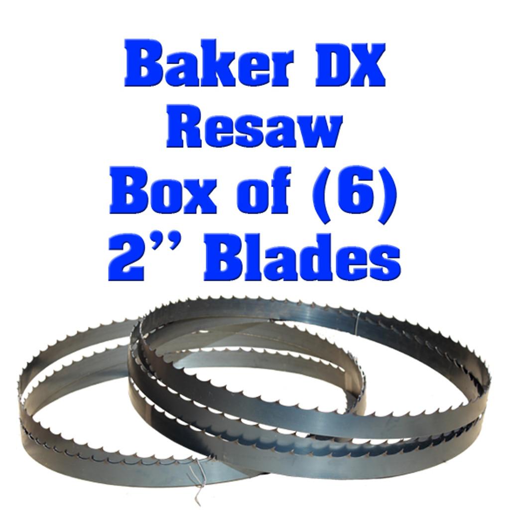 Bandsaw blades for Baker DX resaw