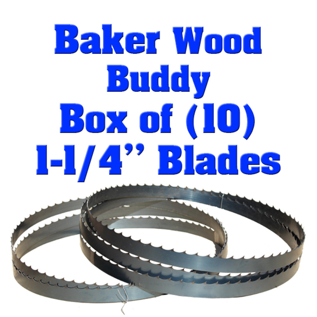 Bandsaw blades for the Baker Wood Buddy sawmill