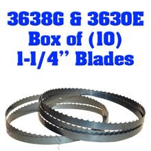 "Box of 10 Blades 1-1/4"" Baker 3638G & 3630E"