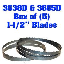 """Box of 5 Blades 1-1/2"""" Baker 3638D & 3665D"""