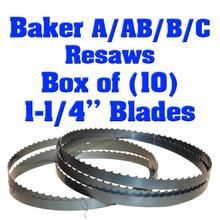 Bandsaw blades for Baker resaw