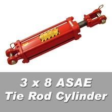 3 x 8 ASAE Tie Rod Cylinder
