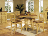 Chatham Pedestal Pub Table With 4 Slat Back 24in. Barstools
