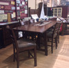 Solid Oak Rustic Canyon Pub Table with 4 Tavern Bar Stools