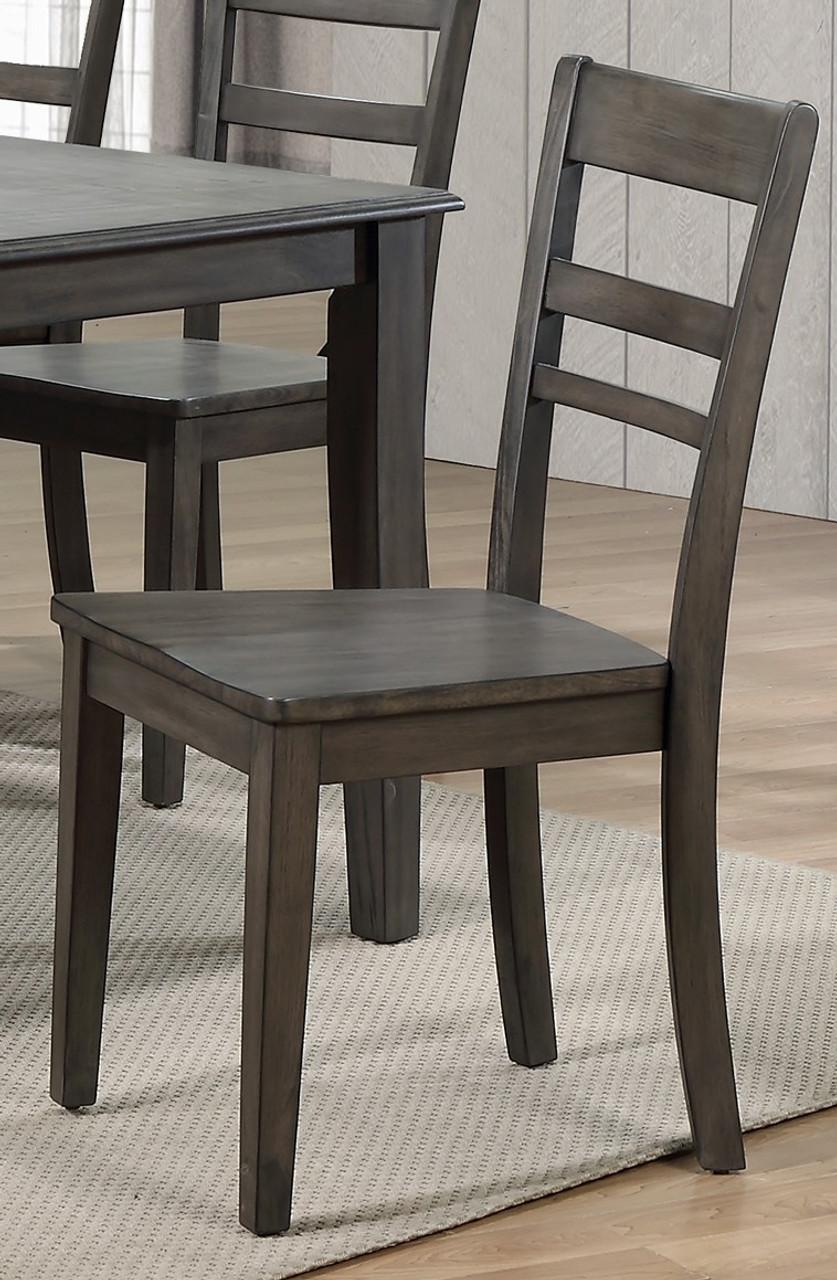 Newport Gray Solid Birch Ladderback Chair