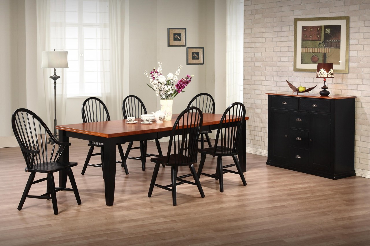 Urban Country Two Tone Dining Set Solid Birch Country