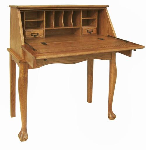 """Antique Drop Front Secretary Desk >> 32"""" Oak Secretary Drop Down Desk Antique Harvest"""