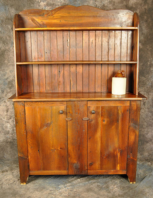 Rustic Reclaimed Wood Kitchen Hutch 52in.