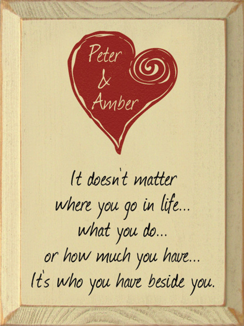 It doesn't matter where you go in life.....