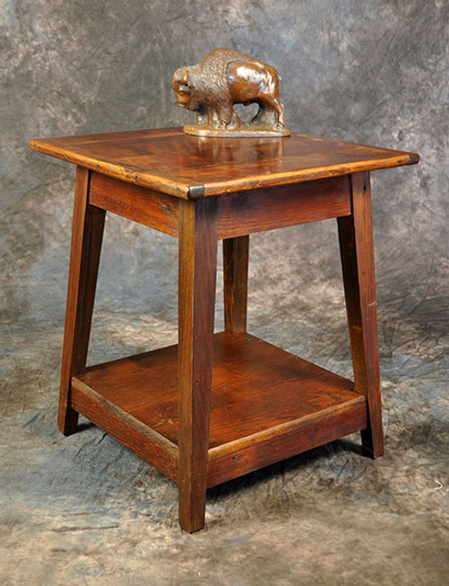 Rustic Reclaimed Wood Small Lamp Table 20L x 20D x 23.5H
