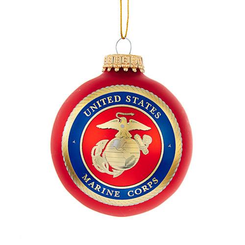 Marine Corps Logo Glass Ball