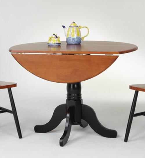 Round Dropleaf Pedestal Table ...