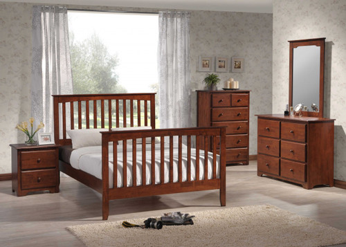 White Painted Mission Bedroom Set Solid Birch - Country Marketplace