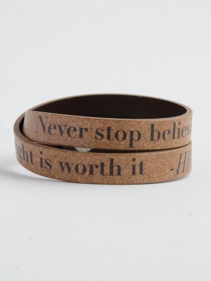 Never stop Believing quote bracelet fair trade   Fair Anita