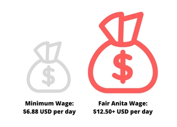 Fair Trade Wages India | Fair Anita